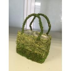 Корзина плетеная (мох, трава)