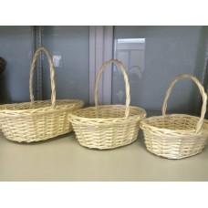 Набор корзин плетеных (ива)