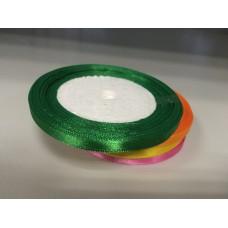 Лента атласная зеленая (0,6 см)