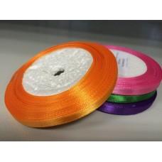 Лента атласная ярко-оранжевая (0,6 см)