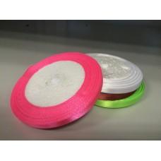 Лента атласная розовый неон (0,6 см)