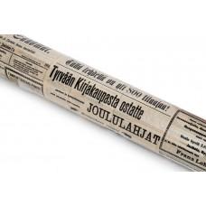 Крафт Бумага Газета, на белом 75 см x 10 м