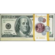 """Конверт Поздравляем! """"100 долларов"""""""