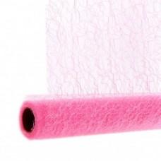 Сетка ажурная 52см x 10ярд розовая