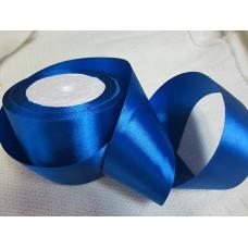 Лента атласная синяя (3,5 см)