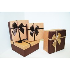 Коробки подарочные коричневые