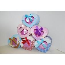 Коробки подарочные Сердечки с окошком
