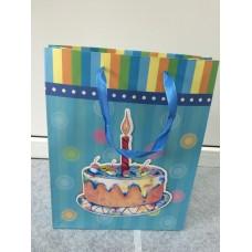 Пакет подарочный Тортик одна свечка