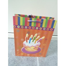 Подарочный пакет Тортик свечки