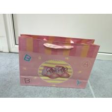Подарочный пакет BABY башмачки розовый