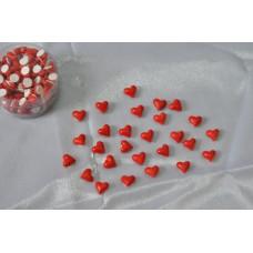 Сердечки-наклейки 100 шт. Забавное яркое украшение на липкой ленте. Удобно в использовании легко фиксируется на любой поверхности. Прекрасный способ украсить упаковку подарка или декорировать помещение. П