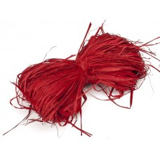 Рафия натуральная Красная