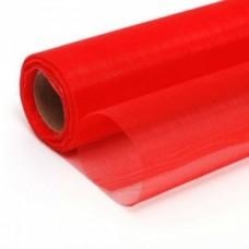 Органза однотонная красная