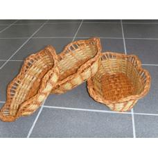 Овальные плетенные корзины 3 в 1. Материал изготовления: ива.