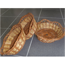 Круглые плетеные корзины 3 в 1